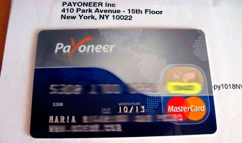 tarjeta de prepago Payoneer MasterCard